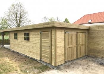Garage modern met luifel